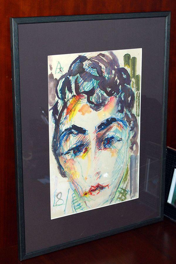 Портрет работы Зверева, с которого началась коллекция Кроника