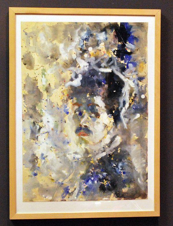 Akvarelny Zvereva, self-portrait acquired by Swiss auktsione