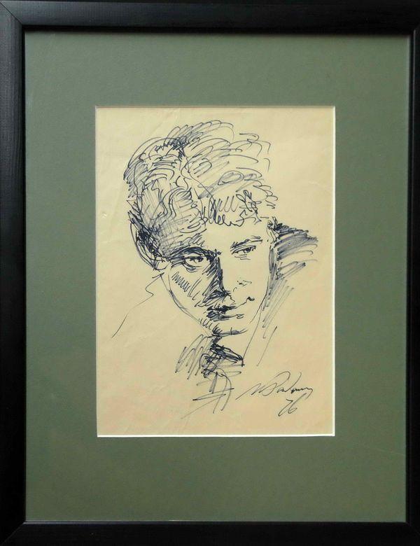 РАДОМАН ИГОРЬ ВЛАДИМИРОВИЧ (1921–1992) Портрет Есенина. 1976
