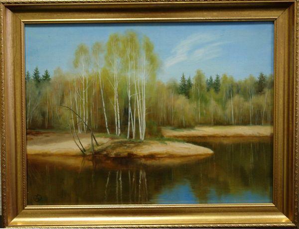САВЧЕНКО АЛЁНА АНАТОЛЬЕВНА (род. 1972) Река Кремянка. Первая зелень. 2008