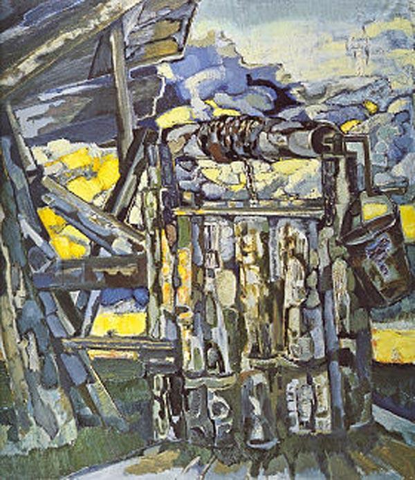 ВИКТОР КАЛИНИН Колодец. 1995–1999. Холст, масло. 200 х 200
