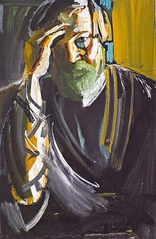 ВИКТОР КАЛИНИН Автопортрет. 2007. Холст, темпера. 120 х 80