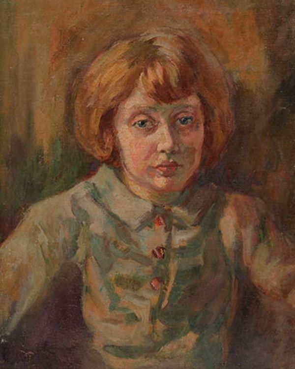 ОКС ЕВГЕНИЙ БОРИСОВИЧ (1899–1968) Портрет дочери. 1940-е
