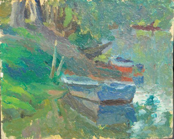 РЯСНЯНСКАЯ ВИКТОРИЯ МИХАЙЛОВНА (род. 1974) Лодки. 1993