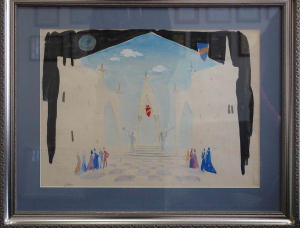 СЕВАСТЬЯНОВ ИВАН ВАСИЛЬЕВИЧ (1920–2004) Эскиз декорации к балету А. К. Глазунова «Раймонда». 1970