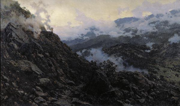 АЛЕКСАНДР КИСЕЛЕВ Старый Сурамский перевал. 1891. Холст, масло. 127 х 210