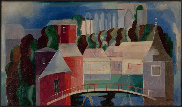 АЛЕКСАНДРА ЭКСТЕР Вид на мост. 1936–1938
