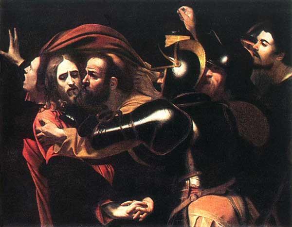 КАРАВАДЖО Взятие Христа под стражу (Поцелуй Иуды)