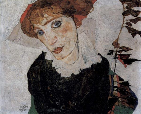 ЭГОН ШИЛЕ Портрет Валли. 1912
