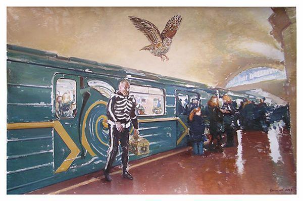 ВАСИЛИЙ ЦАГОЛОВ Кощей. Из цикла «Фантомы страха». 2003