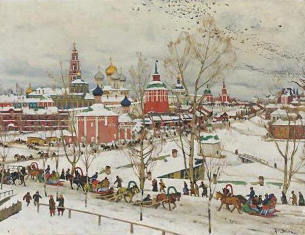 КОНСТАНТИН ЮОН Троице-Сергиева Лавра зимой