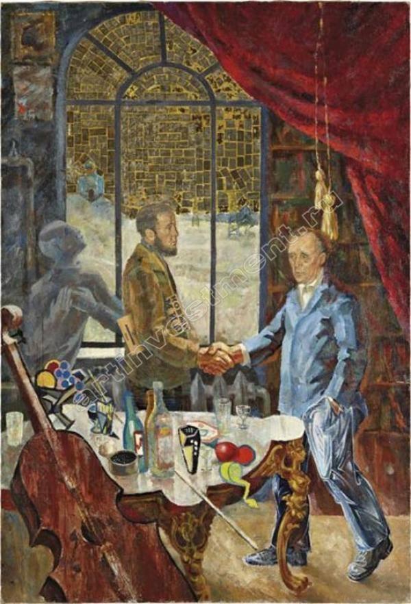 ВИТАЛИЙ КОМАР (р. 1943) и АЛЕКСАНДР МЕЛАМИД (р. 1945). Встреча Солженицына и Бёлля на даче Ростроповича. 1972
