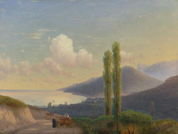 ИВАН АЙВАЗОВСКИЙ Дорога в Гурзуф. Крым. Около 1878