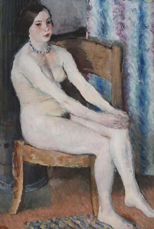 ВЛАДИМИР ЛЕБЕДЕВ Сидящая обнаженная. 1933