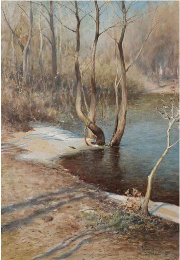 ИСААК ЛЕВИТАН Ранняя весна в Абрамцево. 1893
