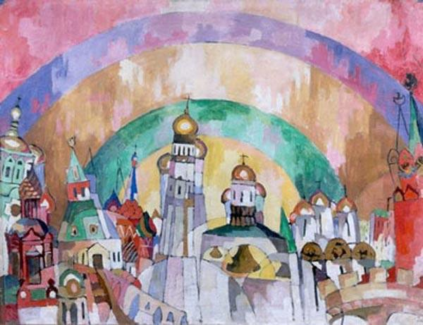 АРИСТАРХ ЛЕНТУЛОВ Небозвон (Декоративная Москва). 1915