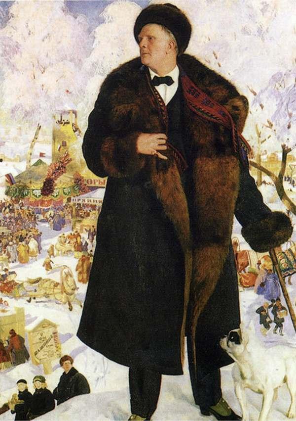 БОРИС КУСТОДИЕВ Портрет Фёдора Ивановича Шаляпина. 1921