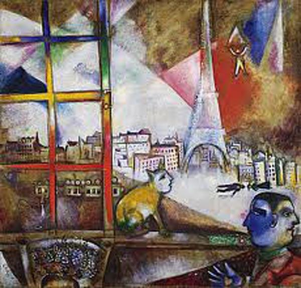 МАРК ШАГАЛ Париж из окна. 1913