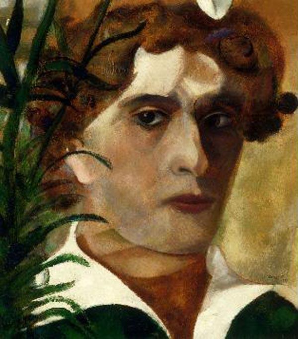МАРК ШАГАЛ Автопортрет в белом воротнике. 1914