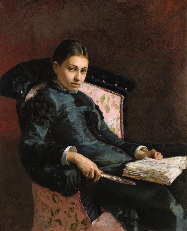 ИЛЬЯ РЕПИН Портрет Веры Репиной, жены художника. 1878