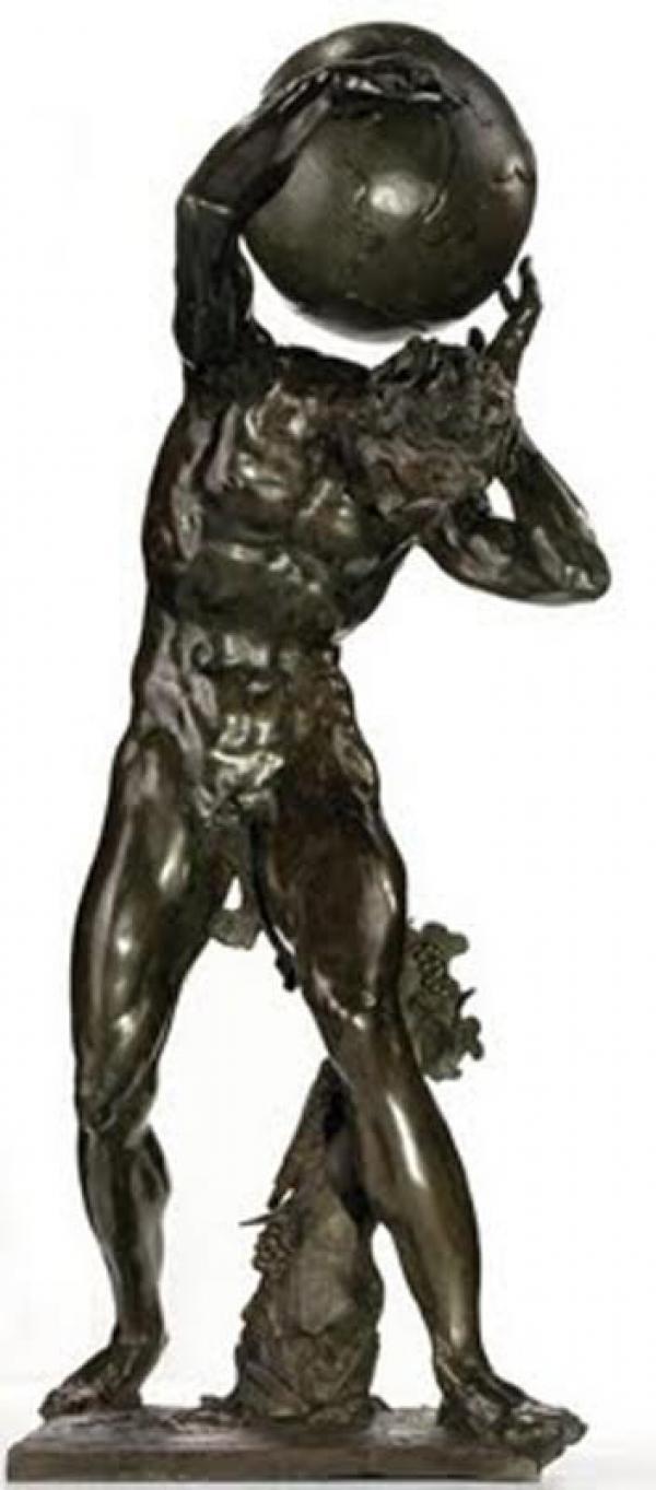АДРИАН ДЕ ВРИС Мифологический персонаж, держащий земной шар. 1626