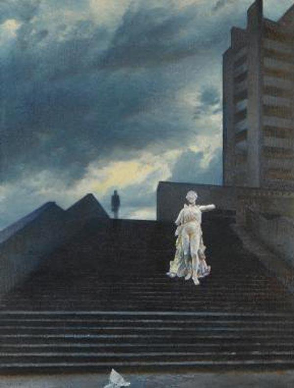 ОЛЕГ ВАСИЛЬЕВ Лестница. 1988