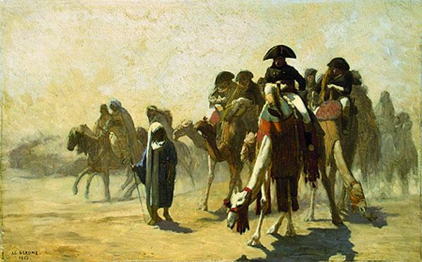 ЖАН-ЛЕОН ЖЕРОМ    Генерал Бонапарт со своим штабом в Египте. 1863