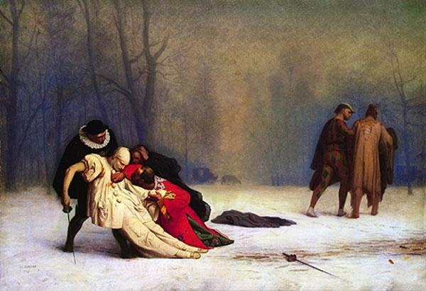 ЖАН-ЛЕОН ЖЕРОМ Дуэль после маскарада. 1857