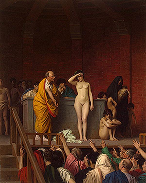 ЖАН-ЛЕОН ЖЕРОМ    Продажа невольницы. Около 1884