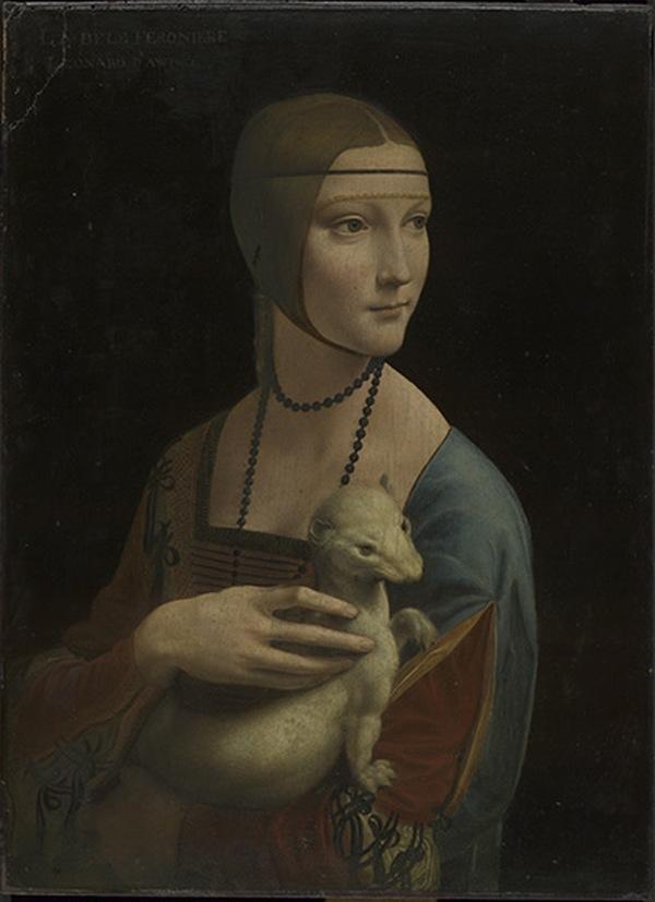 ЛЕОНАРДО ДА ВИНЧИ Портрет Чечилии Галлерани (Дама с горностаем). 1489–1490