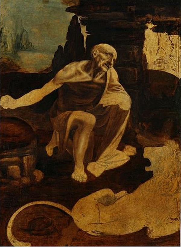 ЛЕОНАРДО ДА ВИНЧИ Блаженный Иероним. 1488-1490