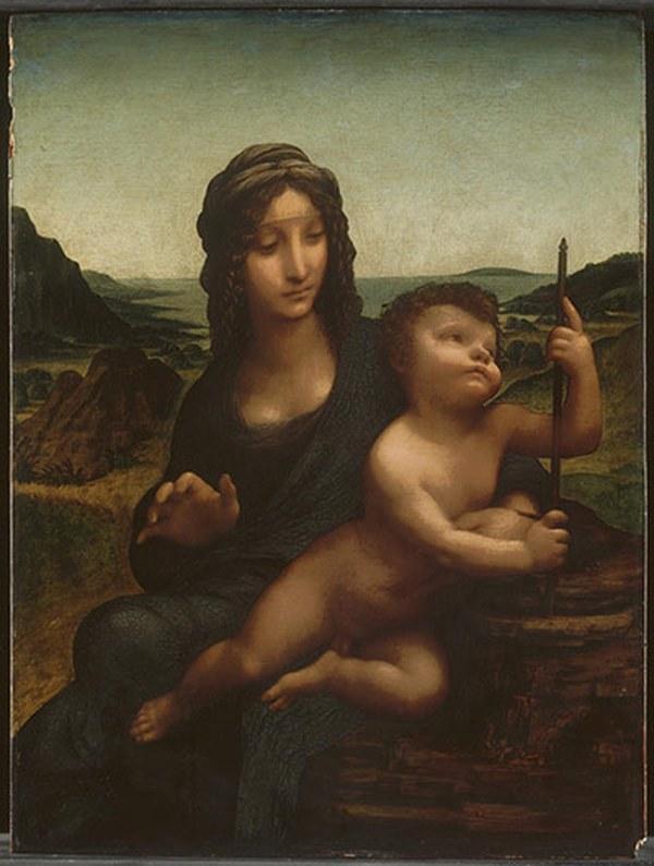 ЛЕОНАРДО ДА ВИНЧИ С УЧЕНИКАМИ Мадонна с веретеном. Не ранее 1501