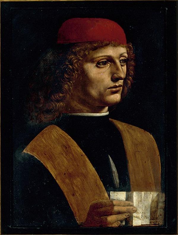 ЛЕОНАРДО ДА ВИНЧИ Портрет музыканта. 1485-8