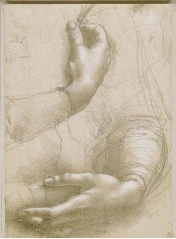 ЛЕОНАРДО ДА ВИНЧИ Эскизы рук. Около 1489–1490