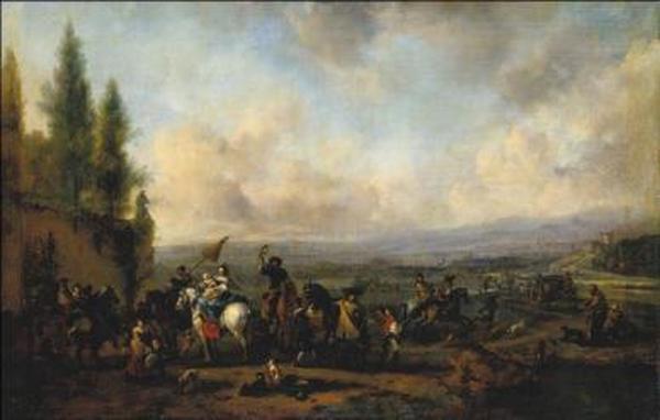 ФИЛИПС ВАУВЕРМАН Отправление в погоню. 1665–1668