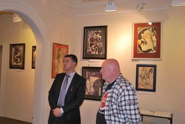 Константин Бабулин, AI и Валерий Силаев на выставке «По прозвищу Зверь»