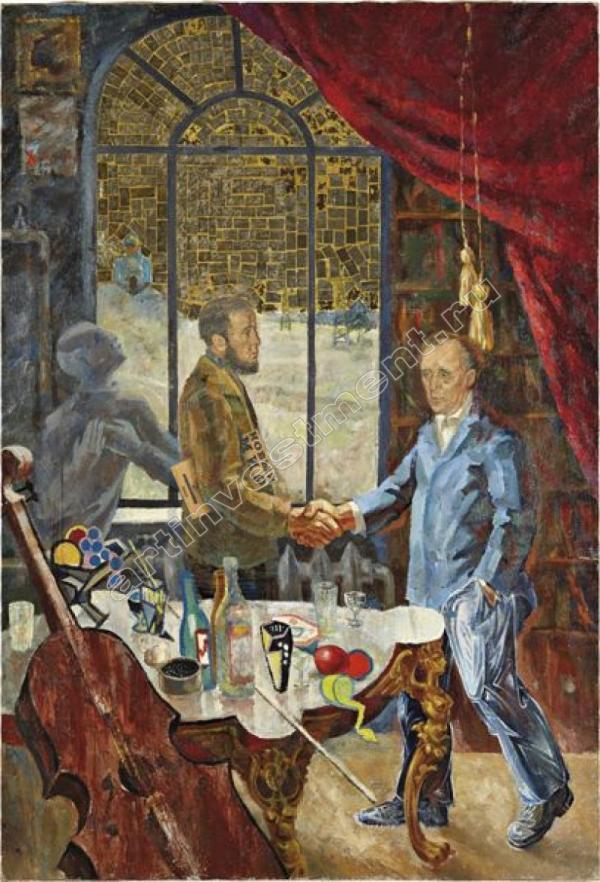 ВИТАЛИЙ КОМАР И АЛЕКСАНДР МЕЛАМИД Встреча Солженицына и Бёлля на даче Ростроповича