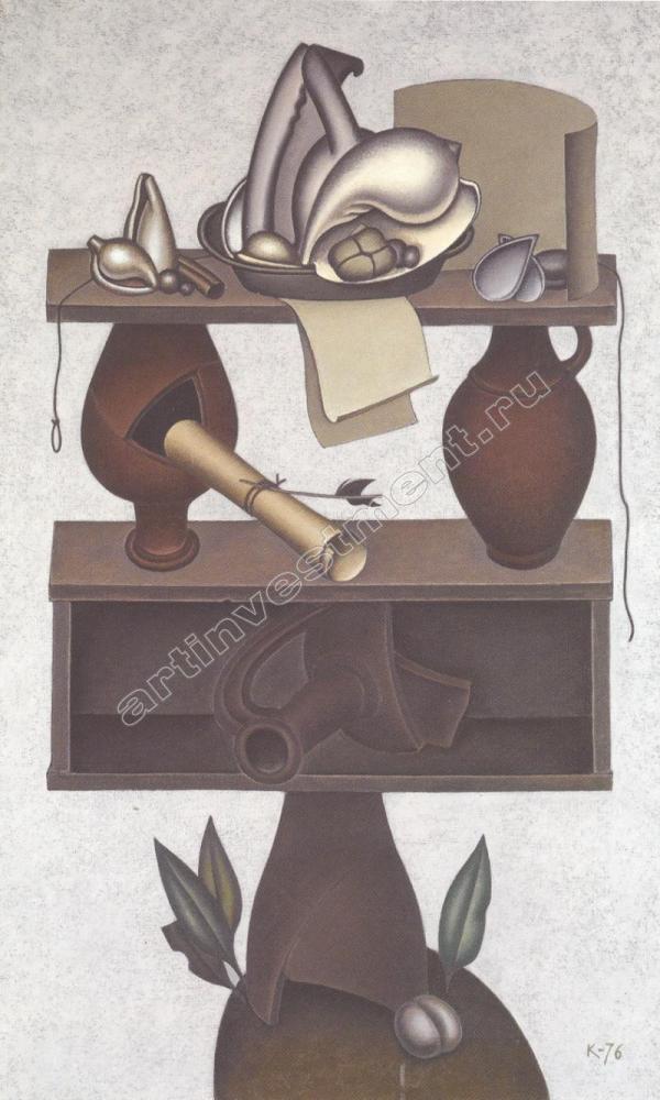 КРАСНОПЕВЦЕВ, ДМИТРИЙ МИХАЙЛОВИЧ (1925–1995). Натюрморт с тремя кувшинами. 1976