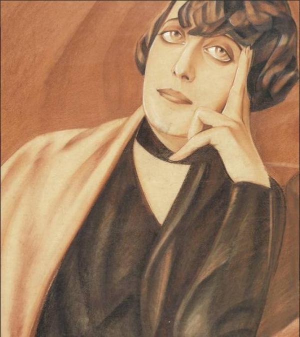 ГЕОРГИЙ ПОЖИДАЕВ Портрет Софьи Лукомской, супруги художника Г. Лукомского. Начало 1920-х
