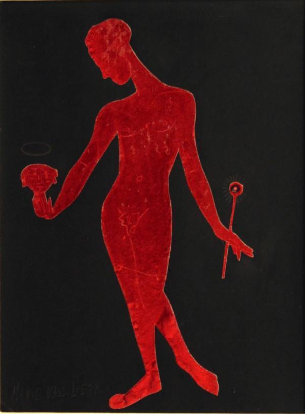 МАРИЯ ВАСИЛЬЕВА Красная фигура. 1930-е