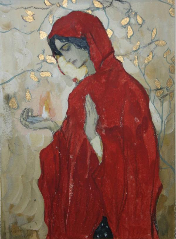 МИХАИЛ НЕСТЕРОВ Девушка в красном мафории. 1904