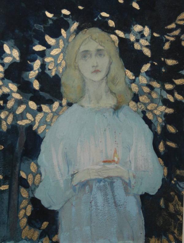 МИХАИЛ НЕСТЕРОВ Девушка в синем хитоне. 1904