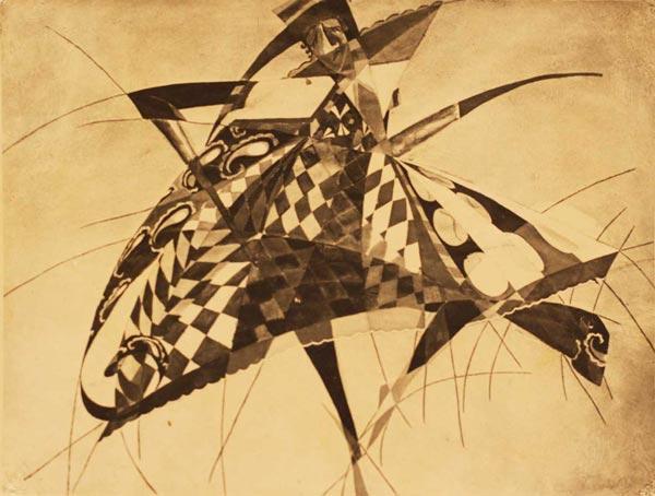 КАСЬЯН  ГОЛЕЙЗОВСКИЙ Коломбина. Эскиз костюма к неизвестной постановке. 1918–1919
