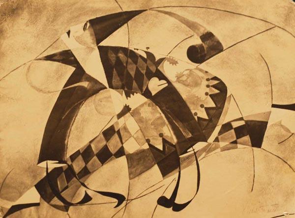КАСЬЯН  ГОЛЕЙЗОВСКИЙ Арлекин. Эскиз костюма к неизвестной постановке. 1918–1919