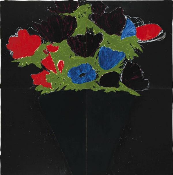ДОНАЛЬД САЛТАН Анемоны в черной вазе. 19 мая 1988