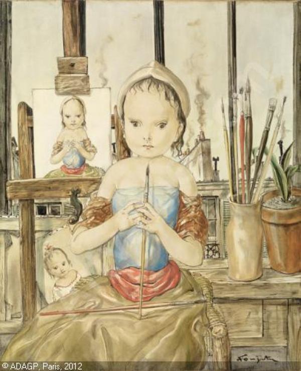 ЛЕОНАР ФУЖИТА Дочь художника. 1953