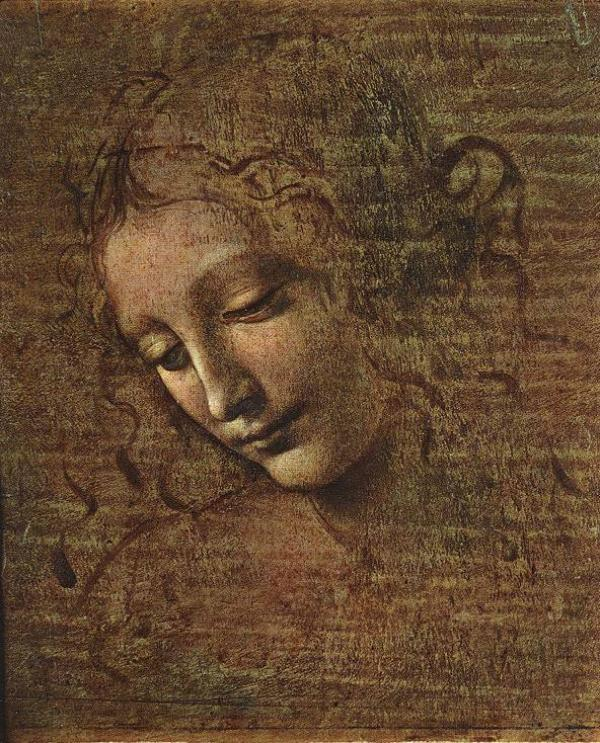 ЛЕОНАРДО ДА ВИНЧИ Голова молодой женщины (La Scapigliata). Ок. 1508