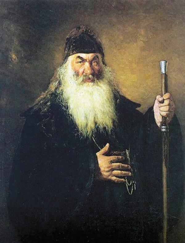 РЕПИН И. Е. Протодьякон. 1877