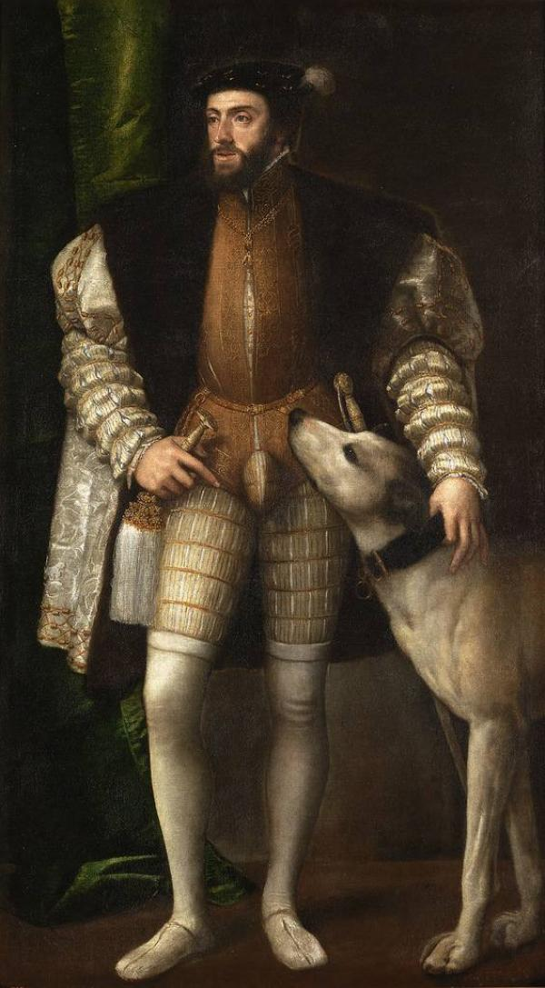 ТИЦИАН Портрет Карла V с собакой. 1533