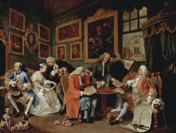 УИЛЬЯМ ХОГАРТ Брачный контракт. Из серии «Модный брак». 1743